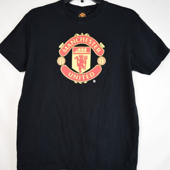 release date: a6ce3 b815c Men's Manchester United Black SS Tee Size S